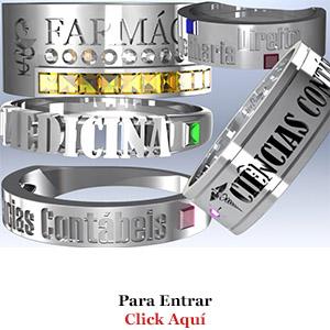 Anéis de Formatura de Prata