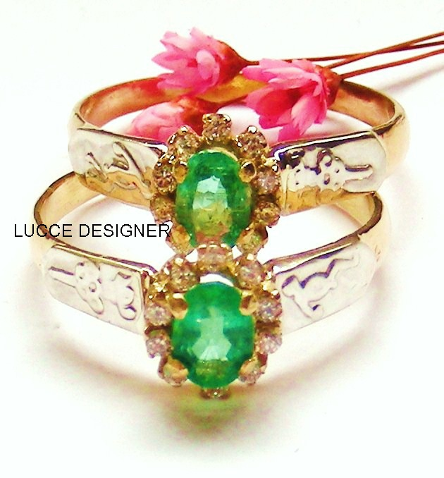 Anel Formatura Pedra Natural Esmeralda, Ouro18k - LucceDesigner 488f06aa99